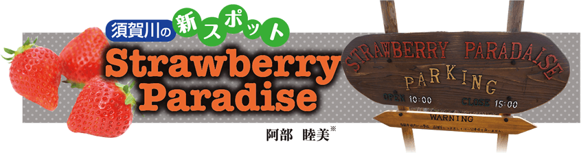 須賀川の新スポット「Strawberry Paradise」