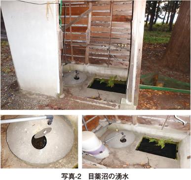 写真2 目薬沼の湧水
