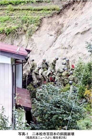 写真1 二本松市百目木の斜面崩壊