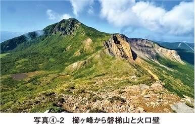 写真4-2 櫛ヶ峰から裏磐梯と火山壁