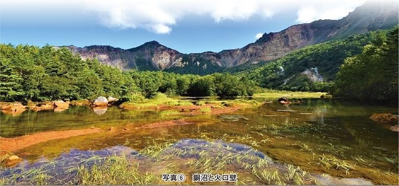 写真6 銅沼と火山壁