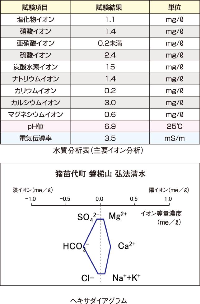 水質分析表(主要イオン分析) ヘキサダイアグラム