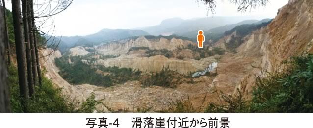 写真-4 滑落崖付近から前景