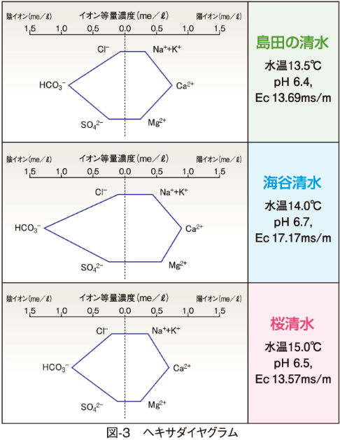 図-3 ヘキサダイヤグラム