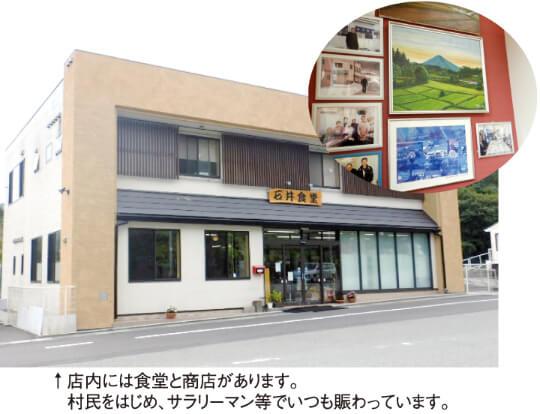 店内には食堂と商店があります。  村民をはじめ、サラリーマン等でいつも賑わっています。